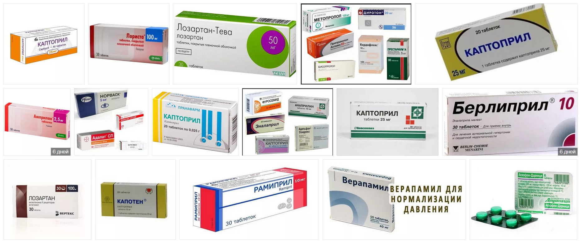 Таблетки от давления повышенного: названия, список препаратов